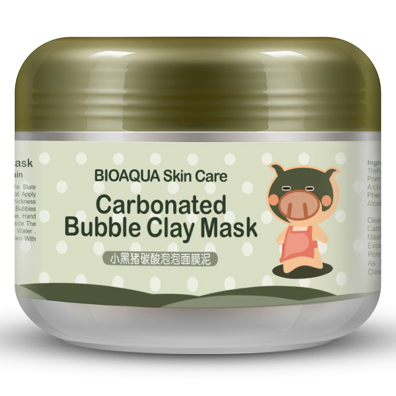 Bioaqua Воздушная маска для лица и шеи (Carbonated Bubble Clay Mask), 100 гр.