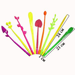 Ручка силиконовая с фигурным наконечником Листик